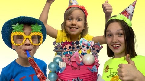 Funny Kids Video With Happy Birthday Nastya Song